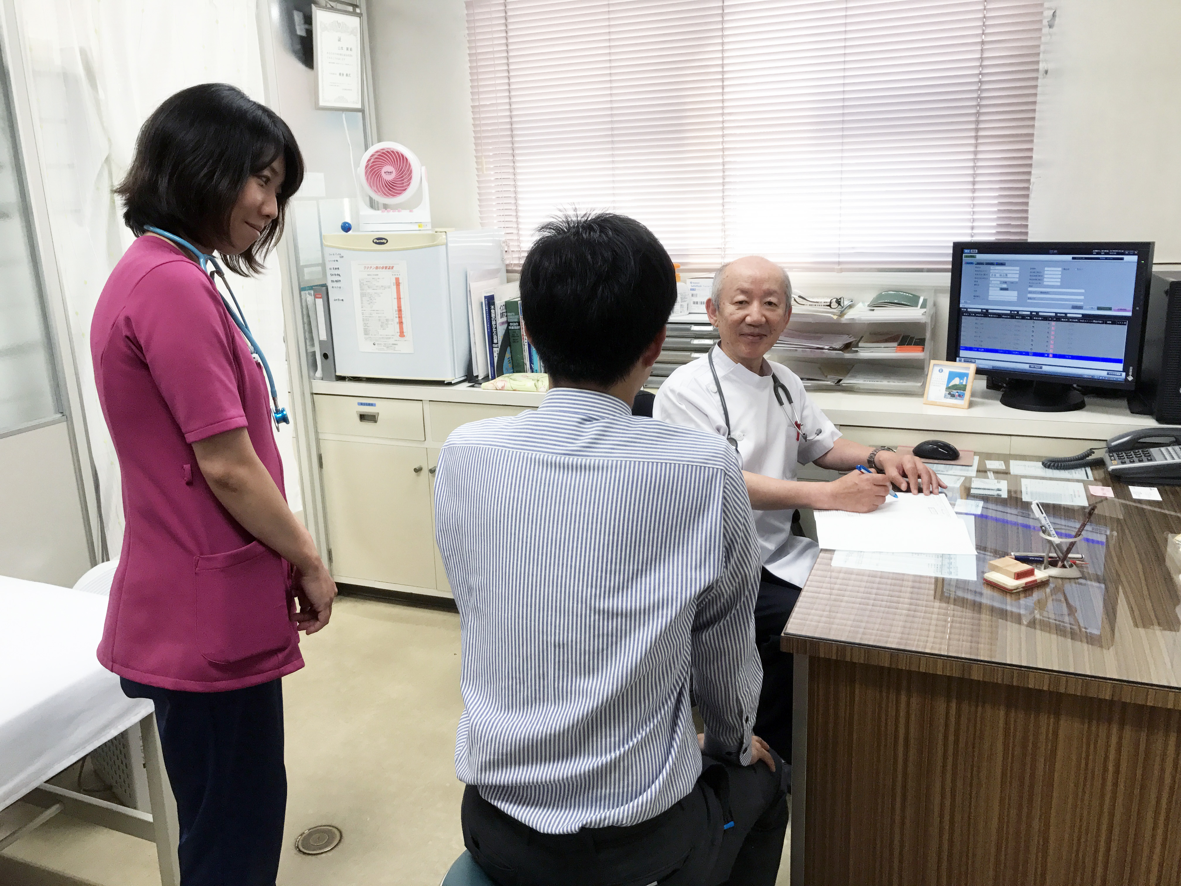 山本医院 診察時風景